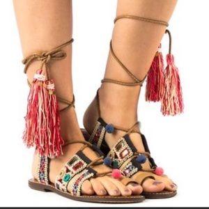 Tassel Gladiator Sandal